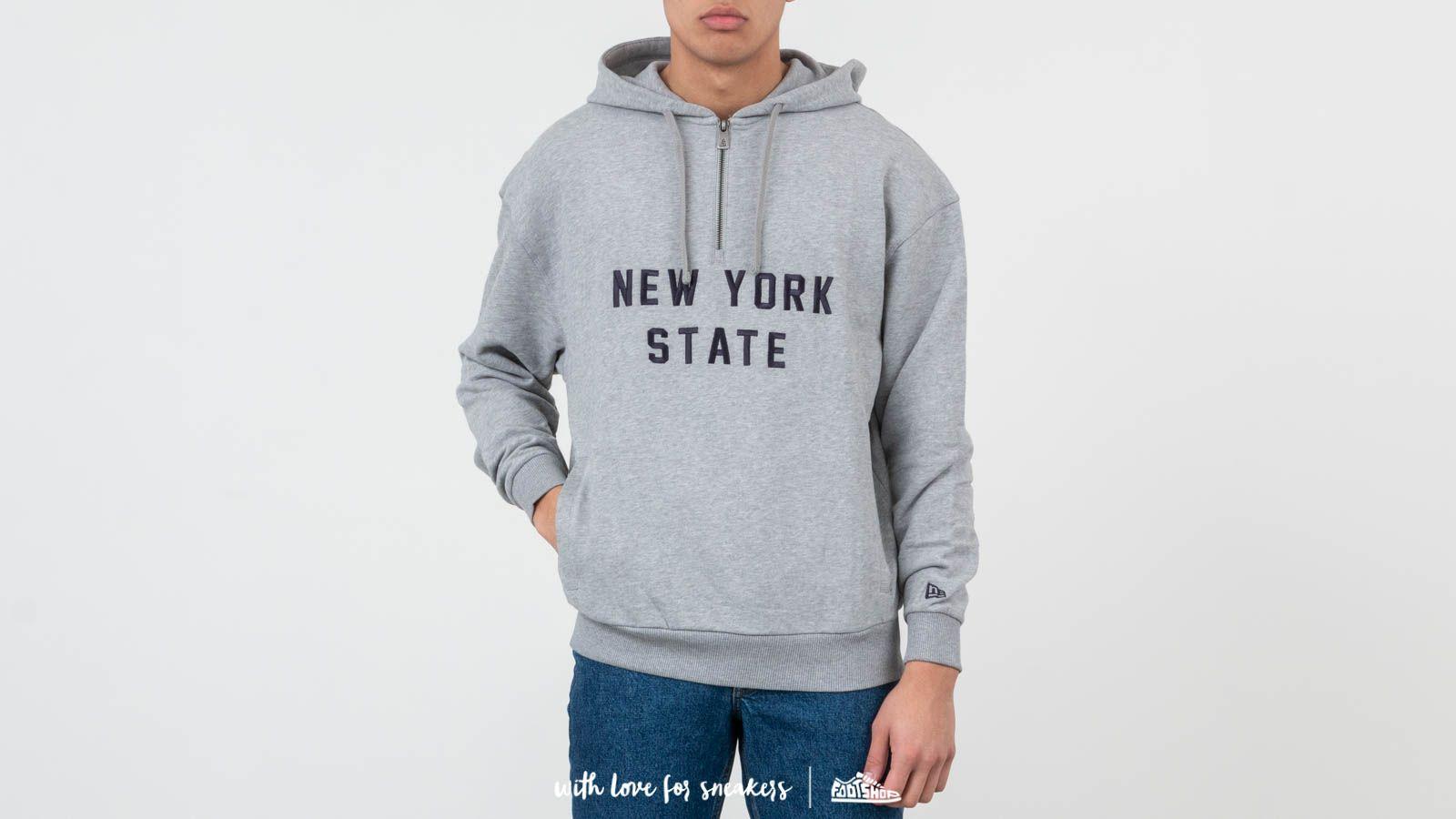 Mikiny a svetry New Era New York State Hoodie Light Grey