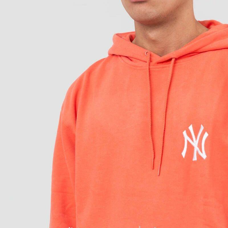New Era New York Yankees Pastel Hoodie Coral, Red