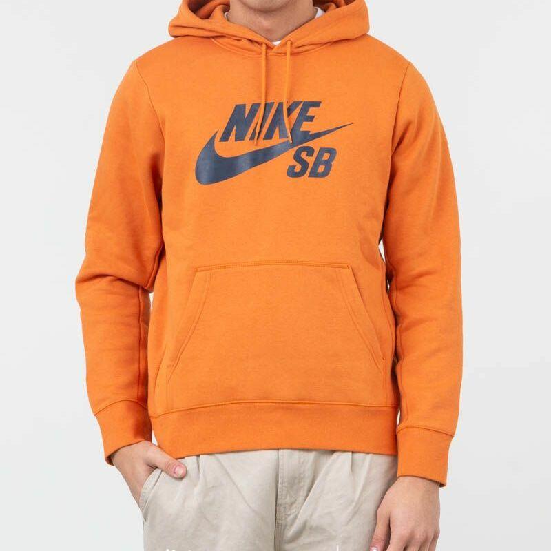 9292f4d6a3 Nike SB Icon Essential Pullover Hoodie Cinder  Orange Obsidian L