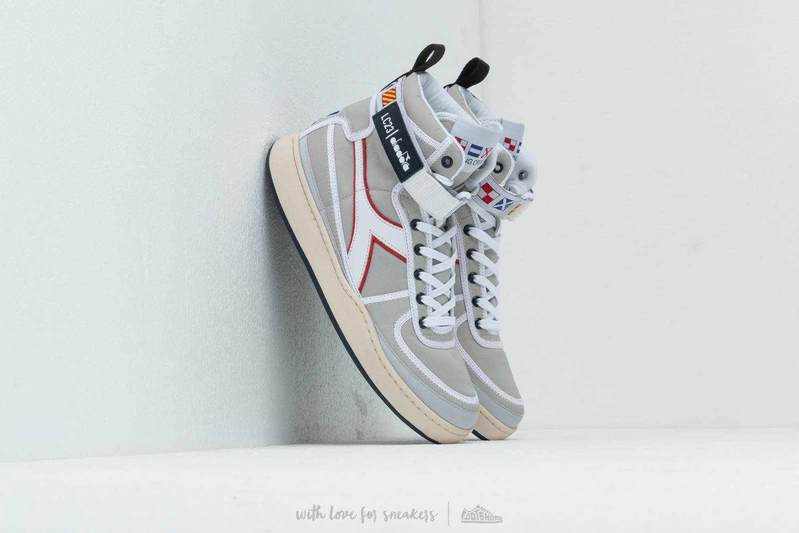 Diadora x LC23 Mi Basket Sailing Nylon Silver Metalized at a great price 216 € buy at Footshop