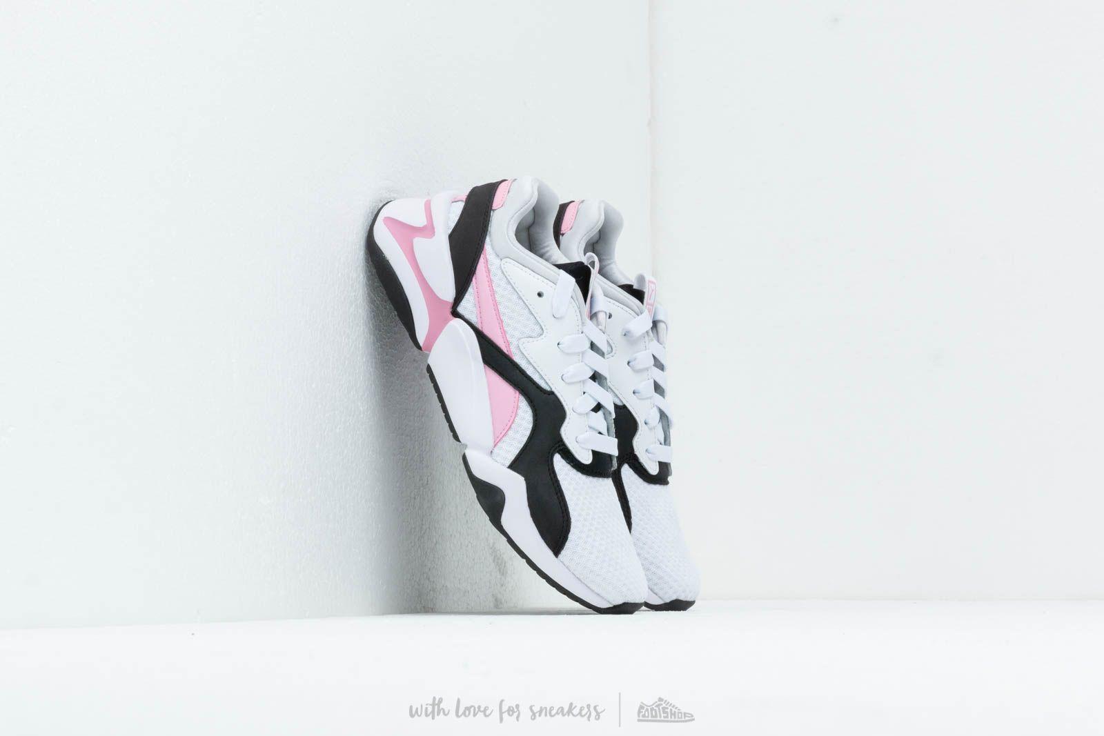Dámské tenisky a boty Puma Nova 90's Bloc Wn's Puma White/ Pale Pink