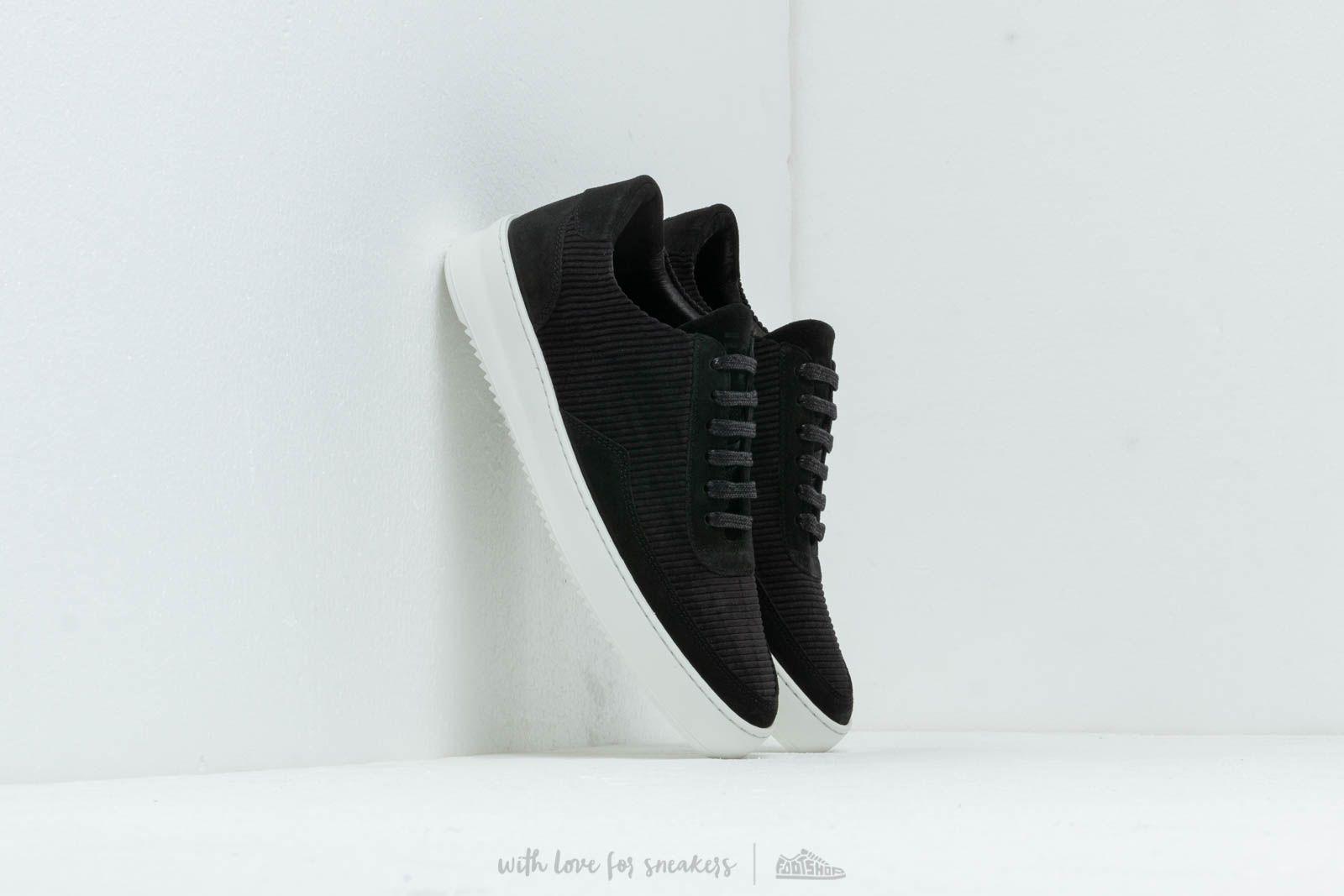 Men's shoes Filling Pieces Low Mondo Ripple Corduroy Black