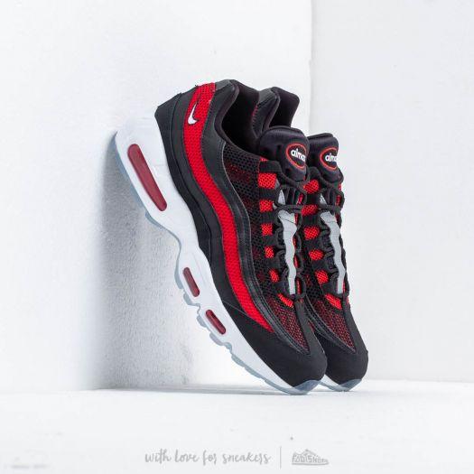 Nike Air Max 95 Essential Black/ White-University Red | Footshop