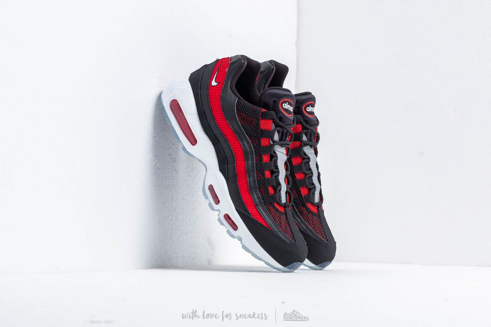 lowest price fe03c db4c1 Nike Air Max 95 Essential Black/ White-University Red at a great price 156