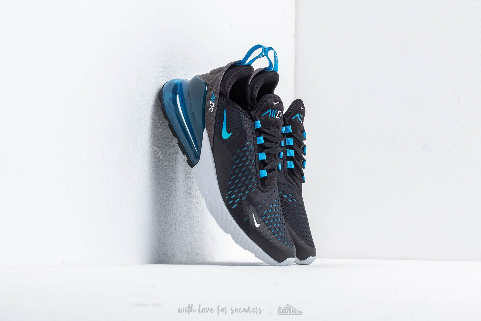pretty nice 77b6b a7b80 Nike Air Max 270. Black  Photo Blue-Blue Fury-Pure Platinum