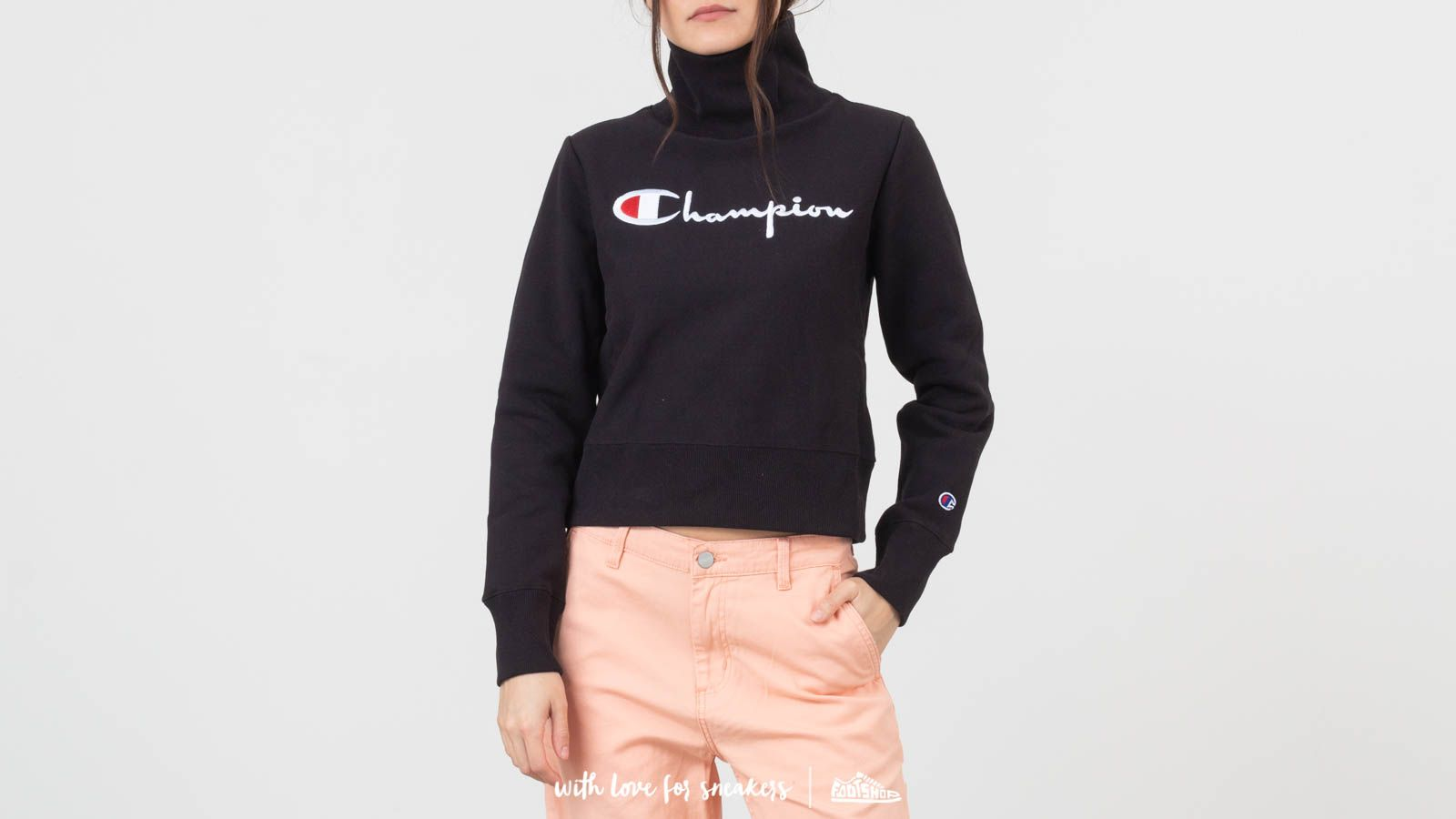 Champion Reverse Weave Logo Crewneck Black at a great price 3 031 ГРН купите на Footshop.ua