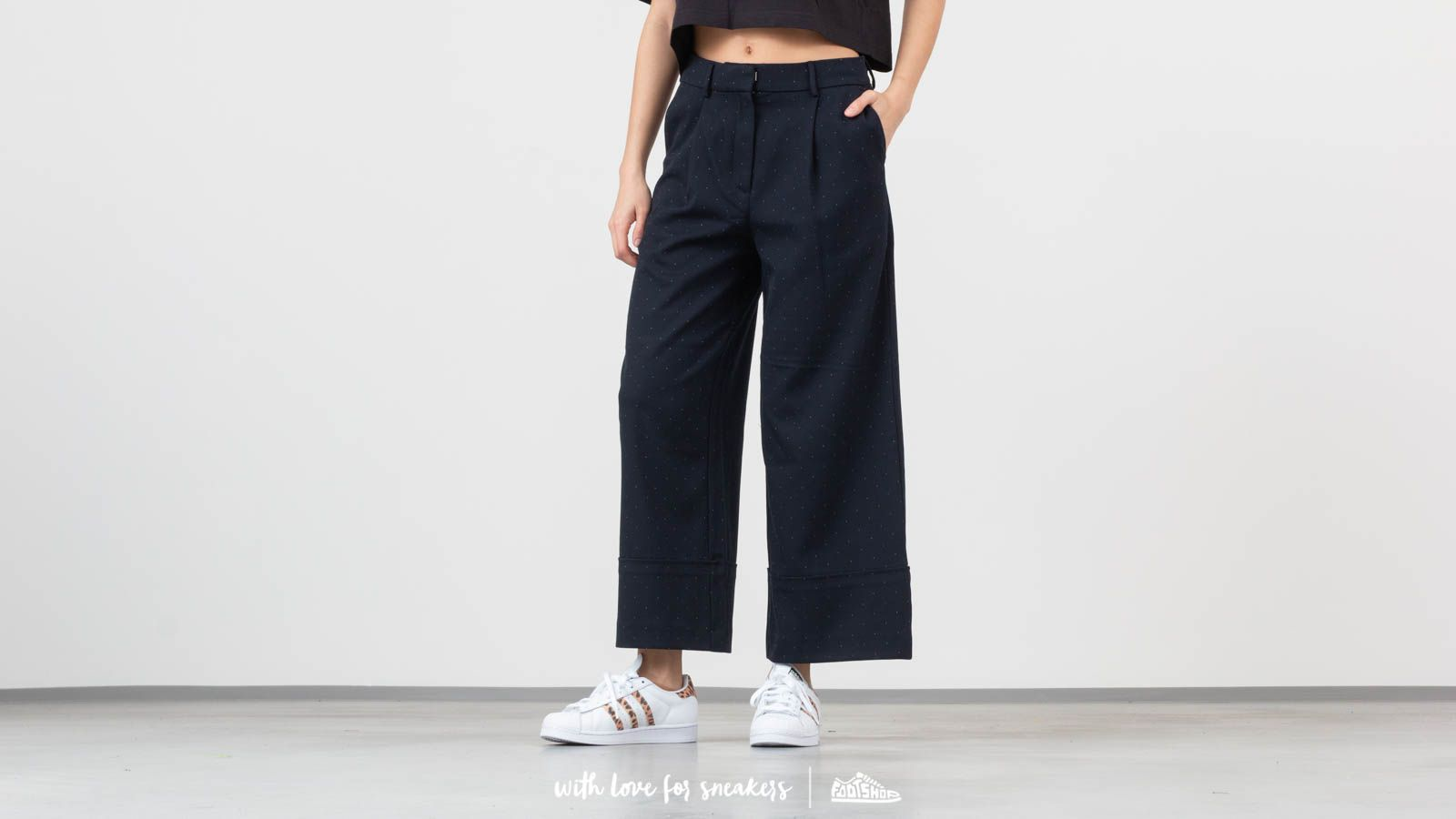 SELECTED Gabby Mid Waist Cropped Wide Pants