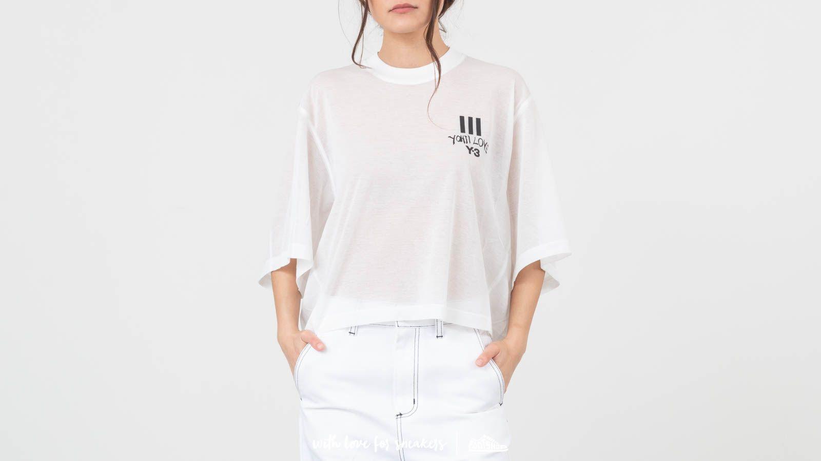 Trička Y-3 Yohji Love Sheer Tee Core White