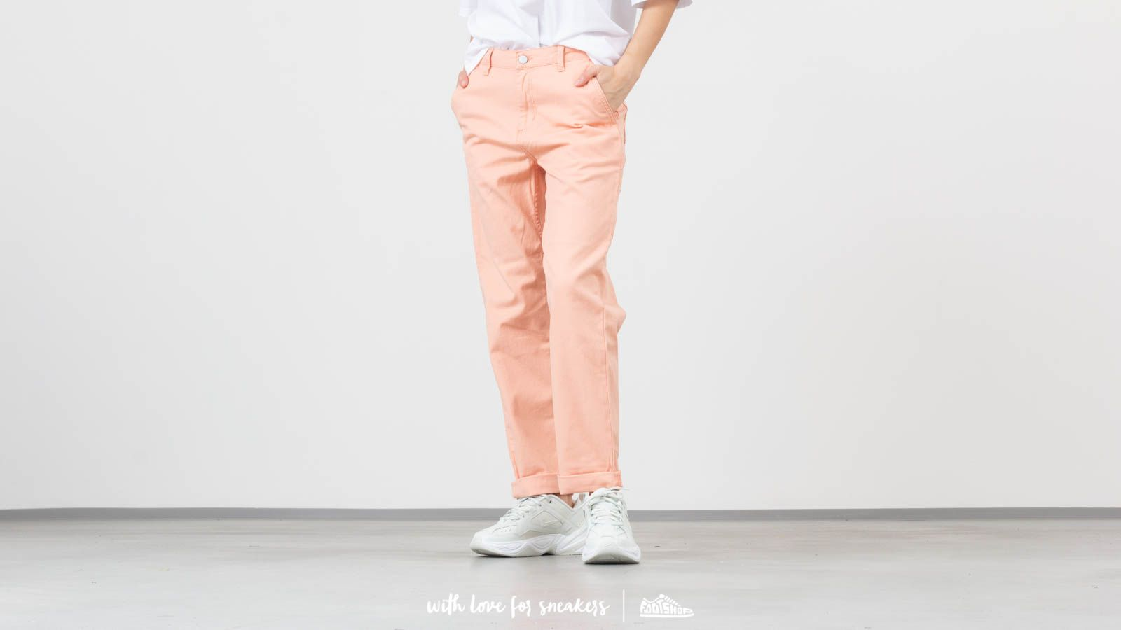Дънки и панталони Carhartt WIP Pierce Pants Peach Rinsed