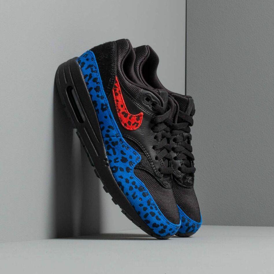 Nike W Air Max 1 Prm Black/ Habanero Red-Racer Blue