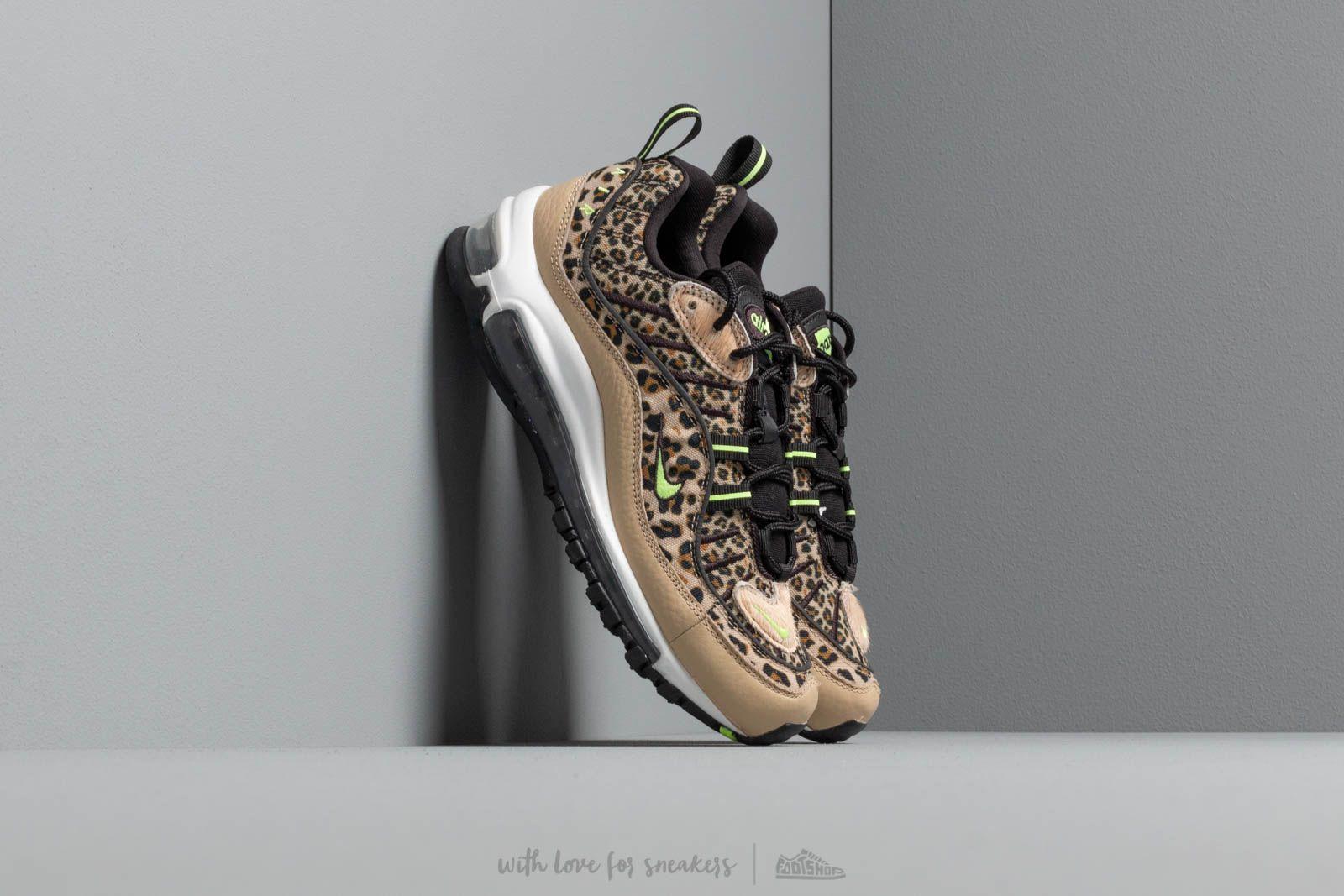 7b793e1e9a4 Nike W Air Max 98 Prm Desert Ore  Volt Glow-Black-Wheat at