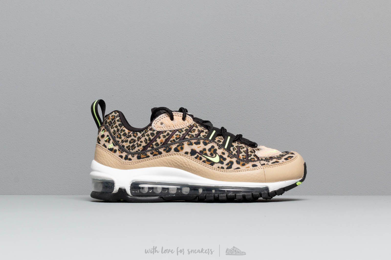 Disonestà Squallido tumulo  Women's shoes Nike W Air Max 98 Prm Desert Ore/ Volt Glow-Black-Wheat    Footshop