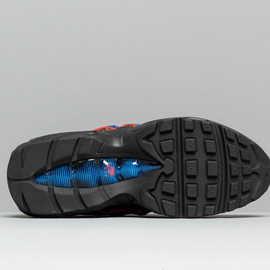 Nike Wmns Air Max 95 Premium Black/ Black-Habanero Red-Racer Blue
