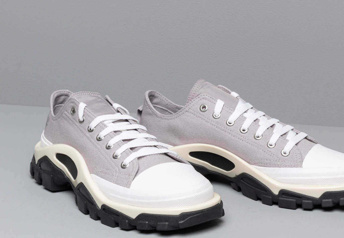 adidas x Raf Simons Detroit Runner Light Granite/ Silver Metallic/ Core White, Gray