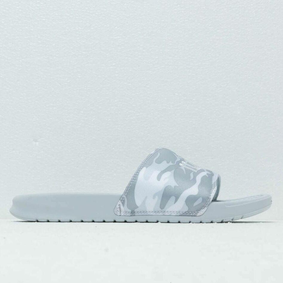 Nike Wmns Benassi Jdi Txt Se Pure Platinum/ Mtlc Platinum-White, Gray