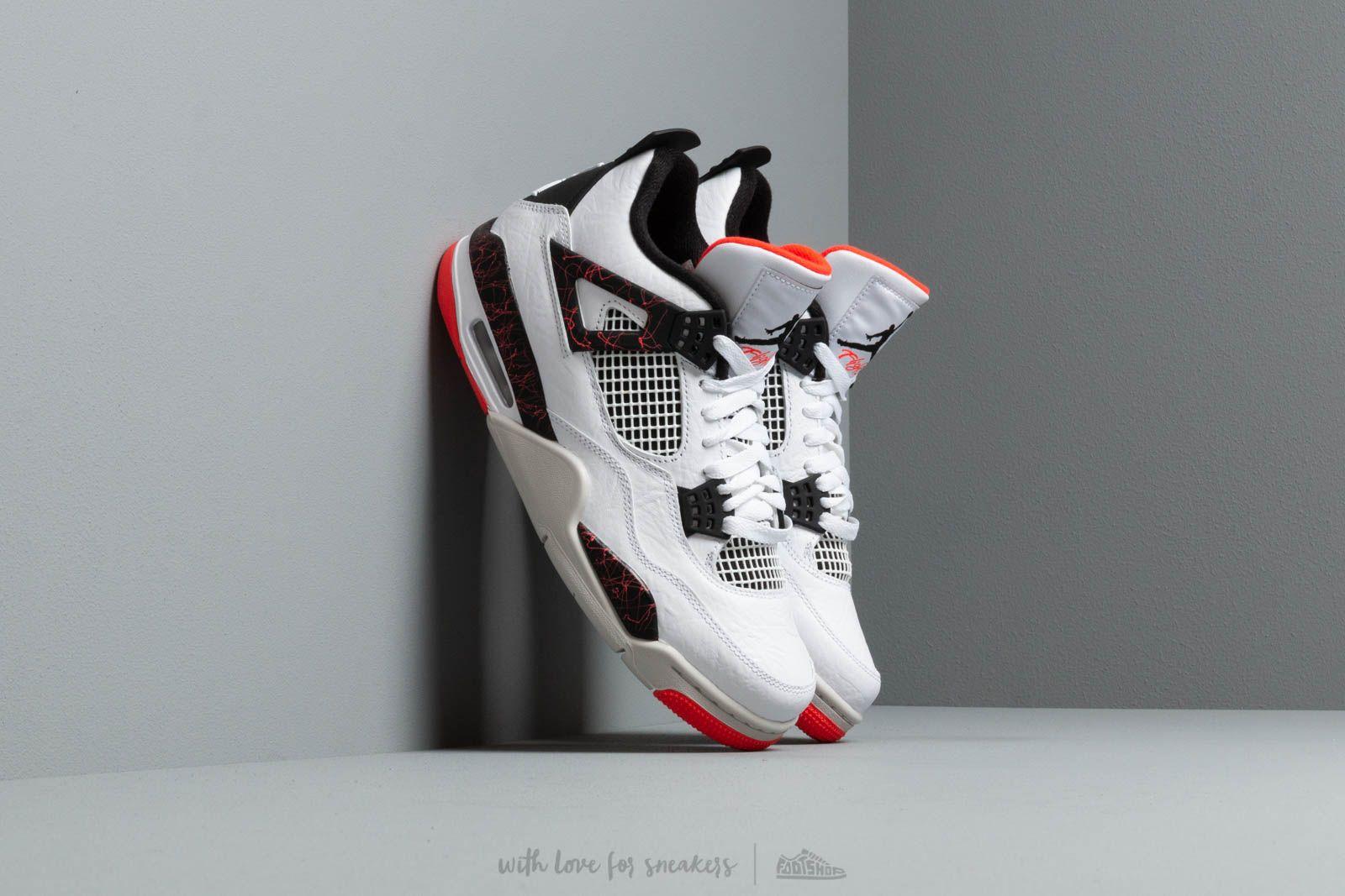 fca1b349fe5 Air Jordan 4 Retro White  Black-Bright Crimson a muy buen precio 181 €