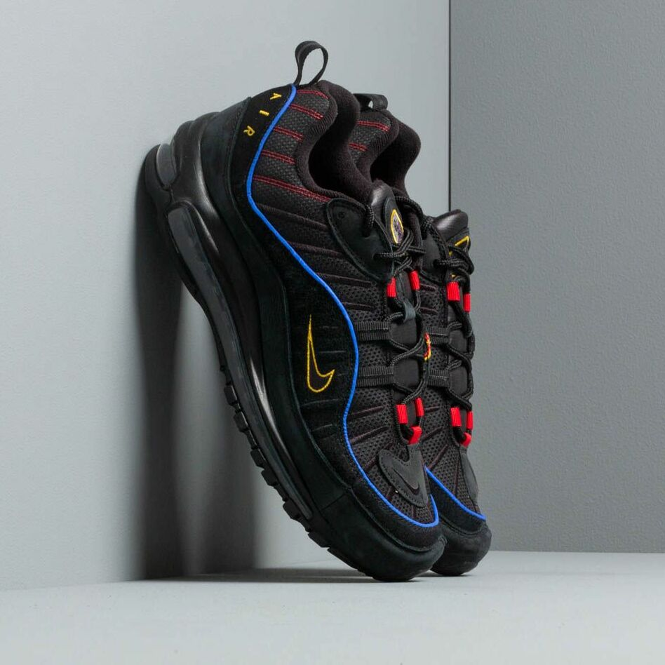 Nike Air Max 98 Black/ Black-Amarillo-University Red EUR 42.5