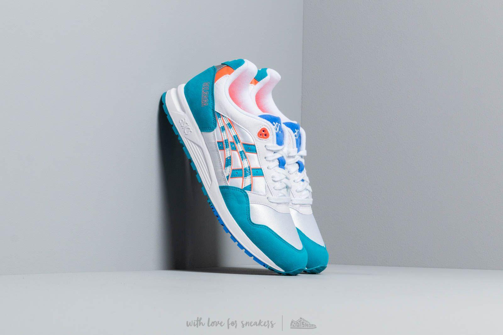 Pánské tenisky a boty Asics Gelsaga White/ Teal Blue