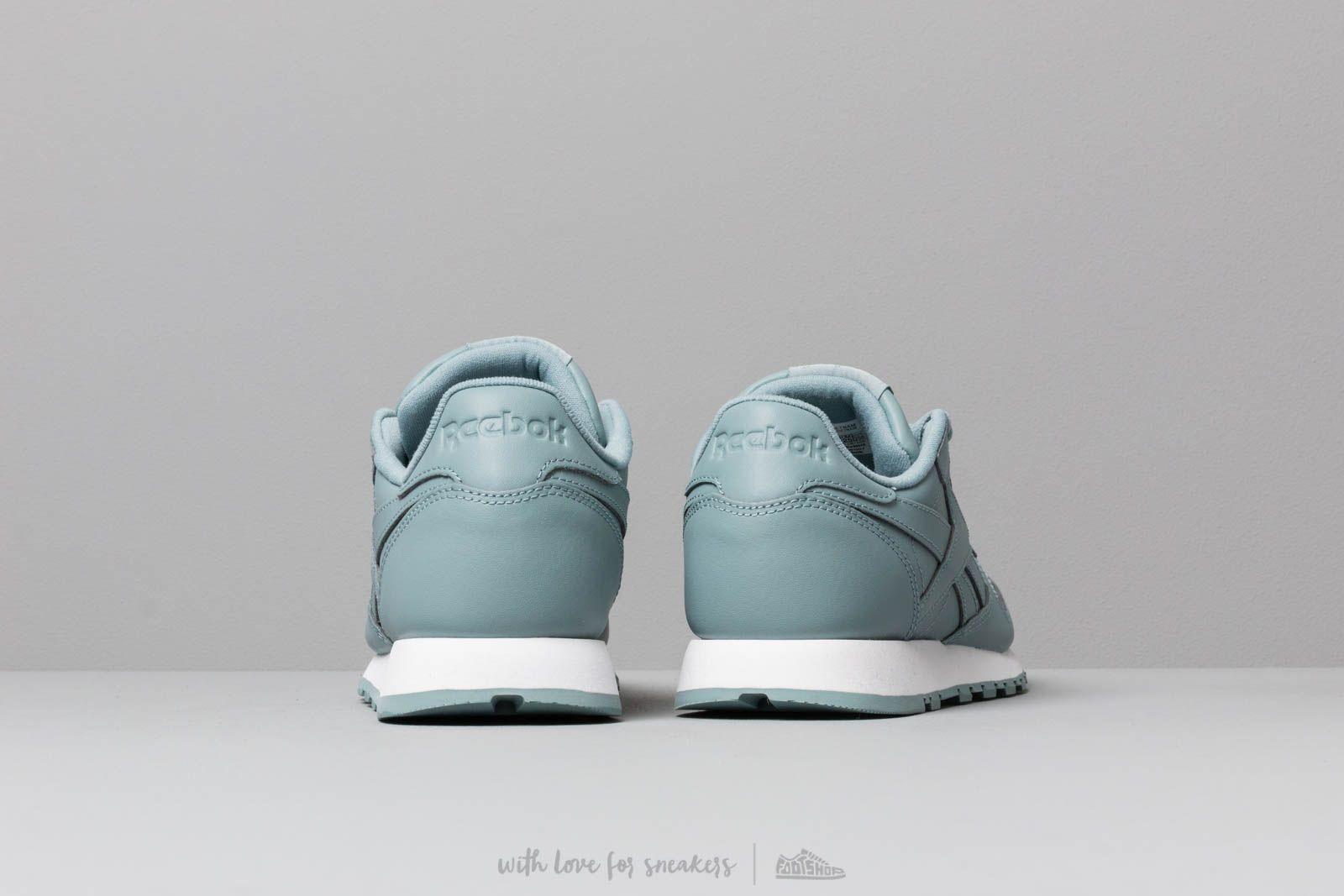 989a281d85c Reebok Classic Leather W Teal Fog  White a muy buen precio 87 € comprar en