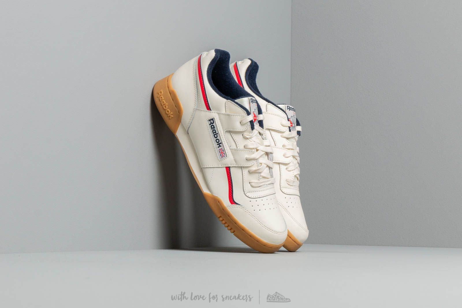 a17051cedfc Reebok Workout Plus Classic White  Navy  Red at a great price £80 buy