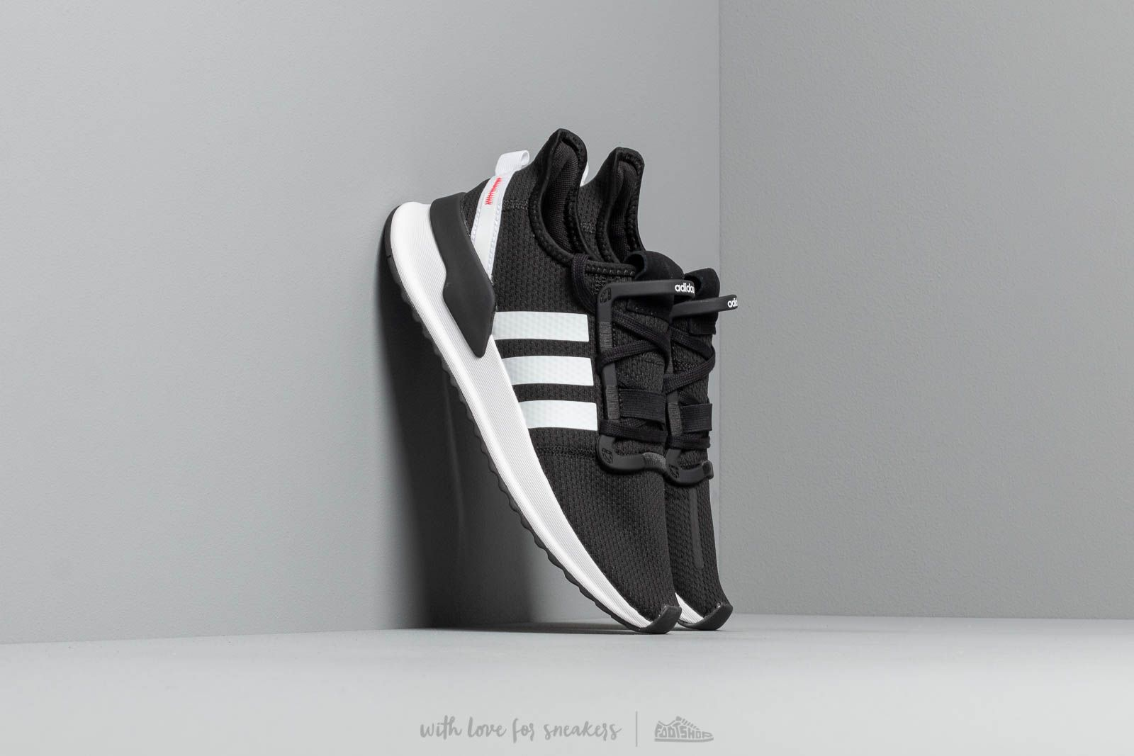779b27f3fc6 adidas U Path Run J Core Black  Ftw White  Shock Red
