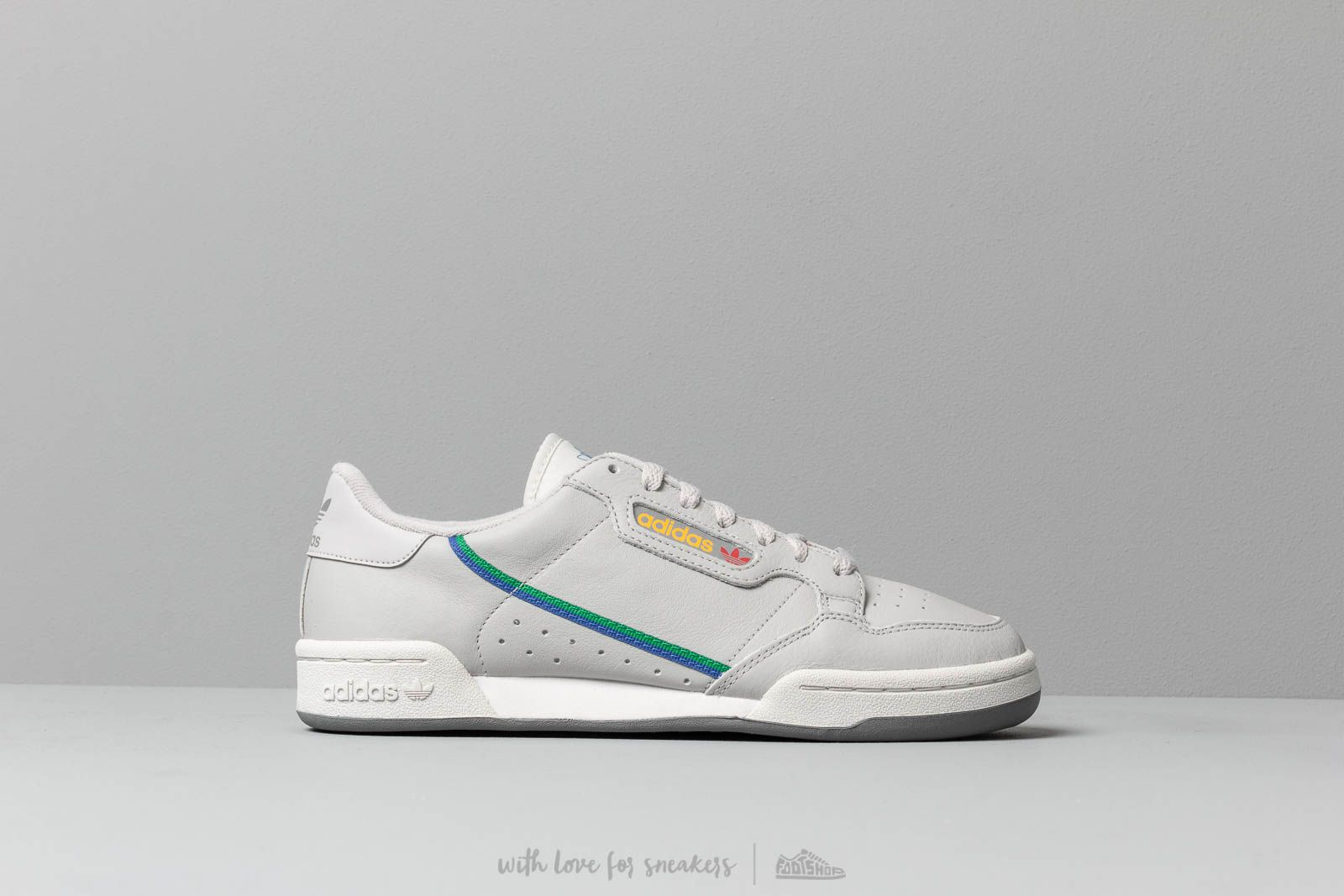 767adf82d614 adidas Continental 80 Grey Two/ Grey One/ Scarle at a great price £80