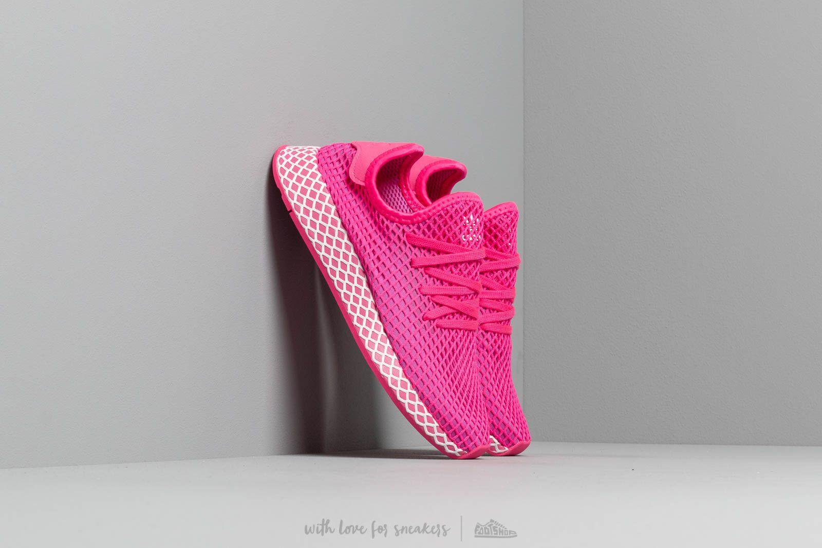 bddf137cb533 adidas Deerupt Runner W Shopnk  Vivid Pink  Ftw White za skvělou cenu 2 490