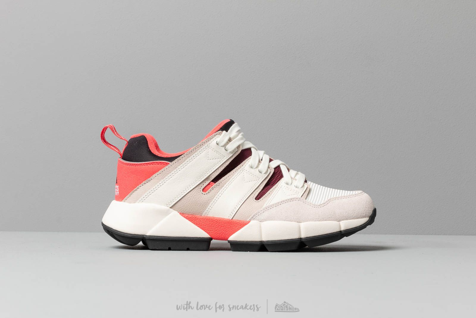 buy popular 161d9 1480b adidas EQT Cushion 2 Shock Red  Off White  Clear Brown at a great price