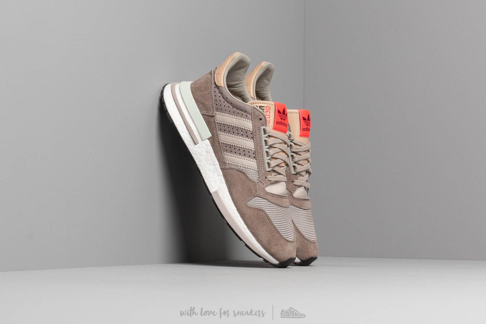 b7da99cfc adidas ZX 500 RM Simple Brown  Light Brown  Ftw White at a great price