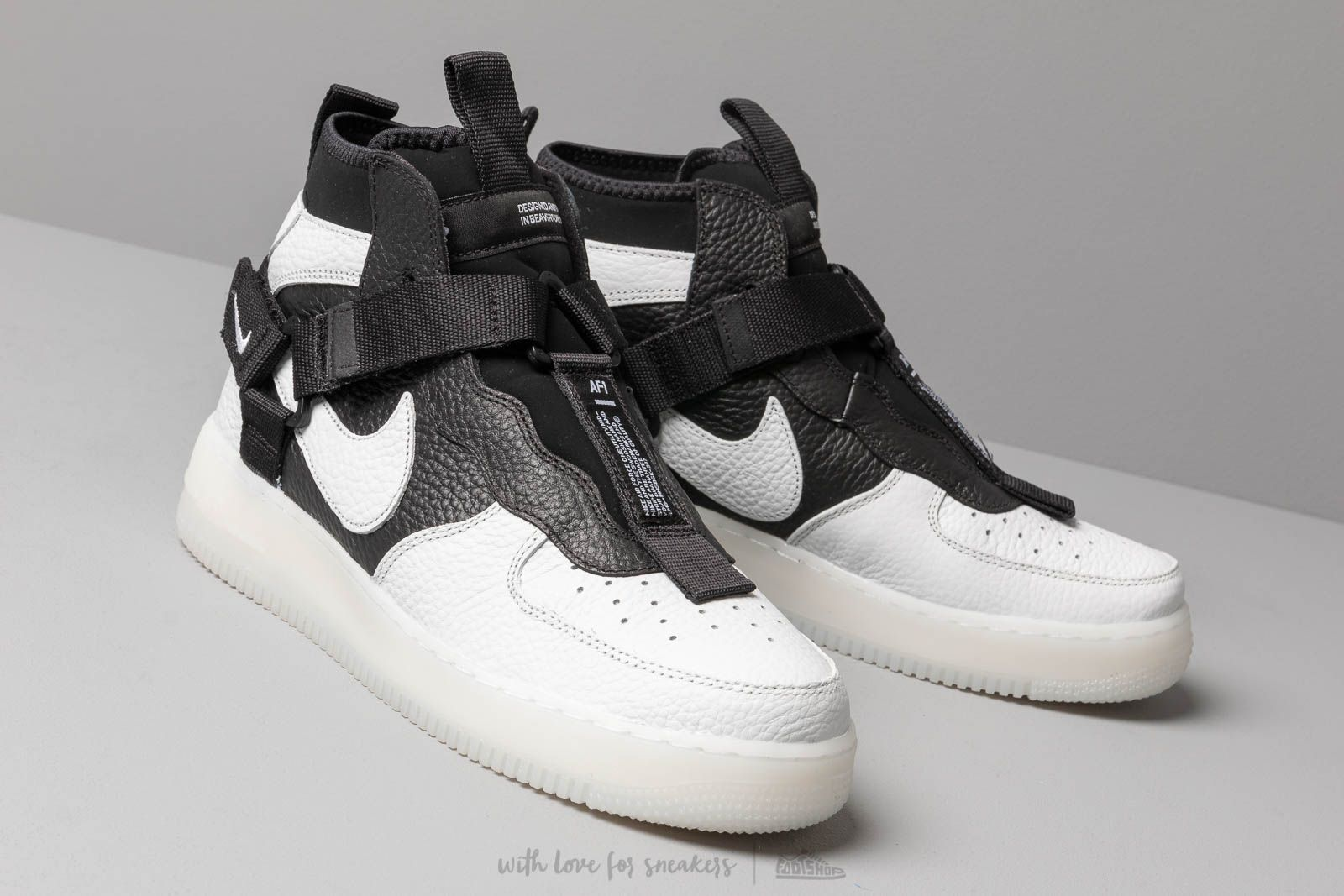 Nike Air Force 1 Utility Mid Off White/ Black-White | Footshop
