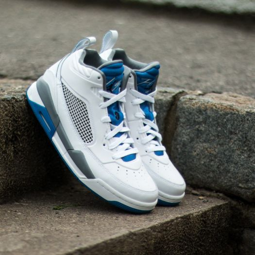 best website 25740 19fd6 Jordan Flight 9.5 White/Black-Sport Blue-Cool Grey | Footshop