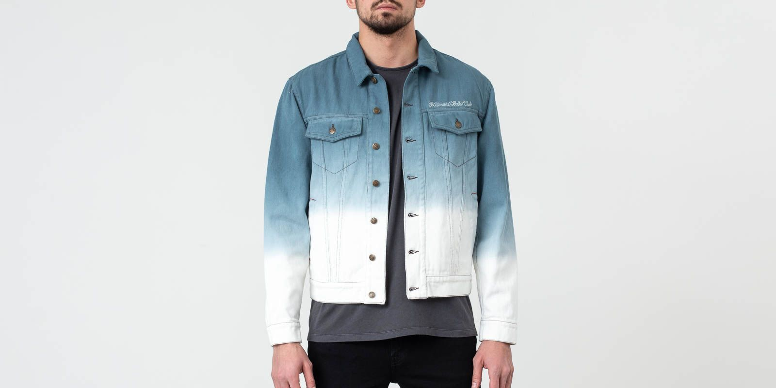 Billionaire Boys Club Dip Dye Trucker Jacket Teal, Blue