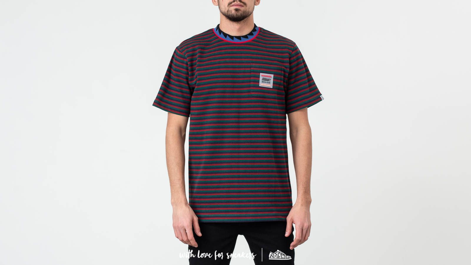 Camisetas Billionaire Boys Club Striped Pocket Tee Green