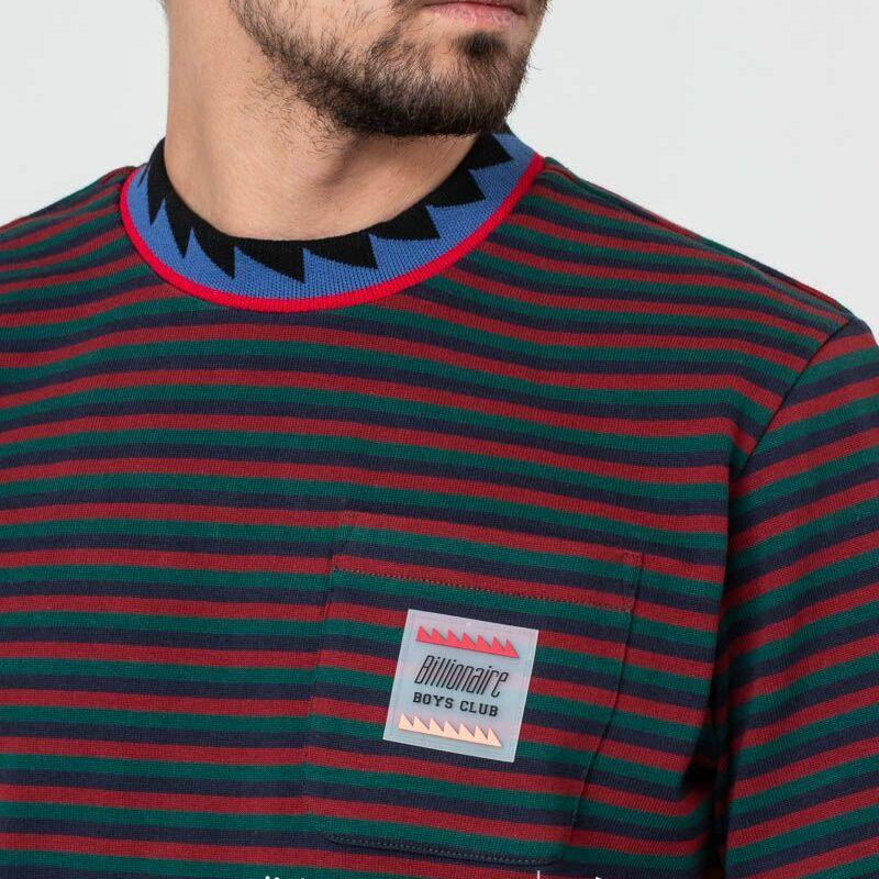 Billionaire Boys Club Striped Pocket Tee Green, Multicolour