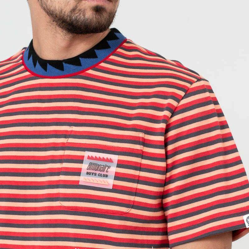 Billionaire Boys Club Striped Pocket Tee Red