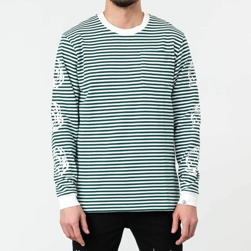 Billionaire Boys Club Small Stripe Longsleeve Tee Green White