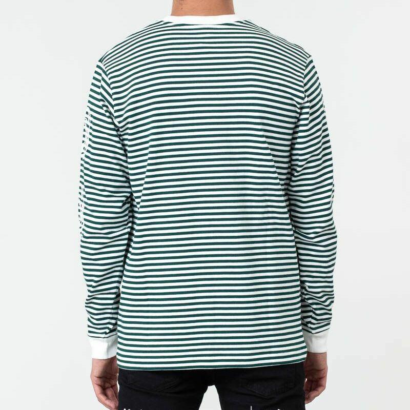 Billionaire Boys Club Small Stripe Longsleeve Tee Green/ White