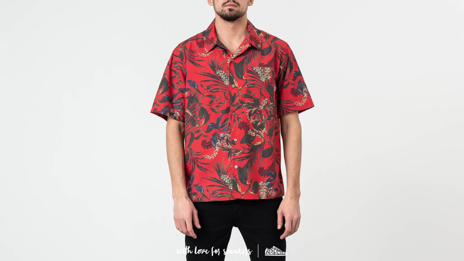 Camisas Norse Projects Carsten Print Shirt Askja Red