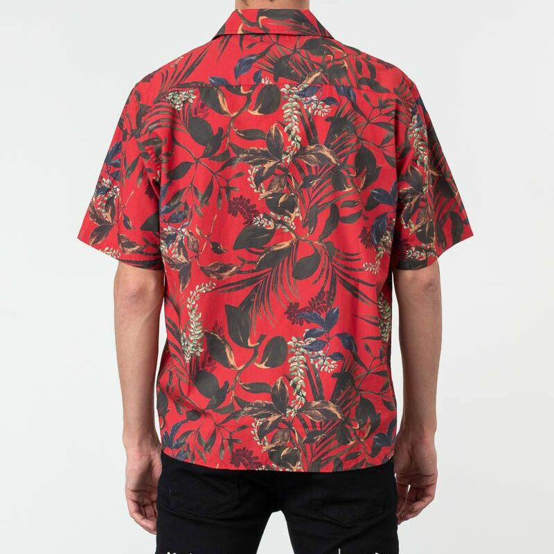 Norse Projects Carsten Print Shirt Askja Red