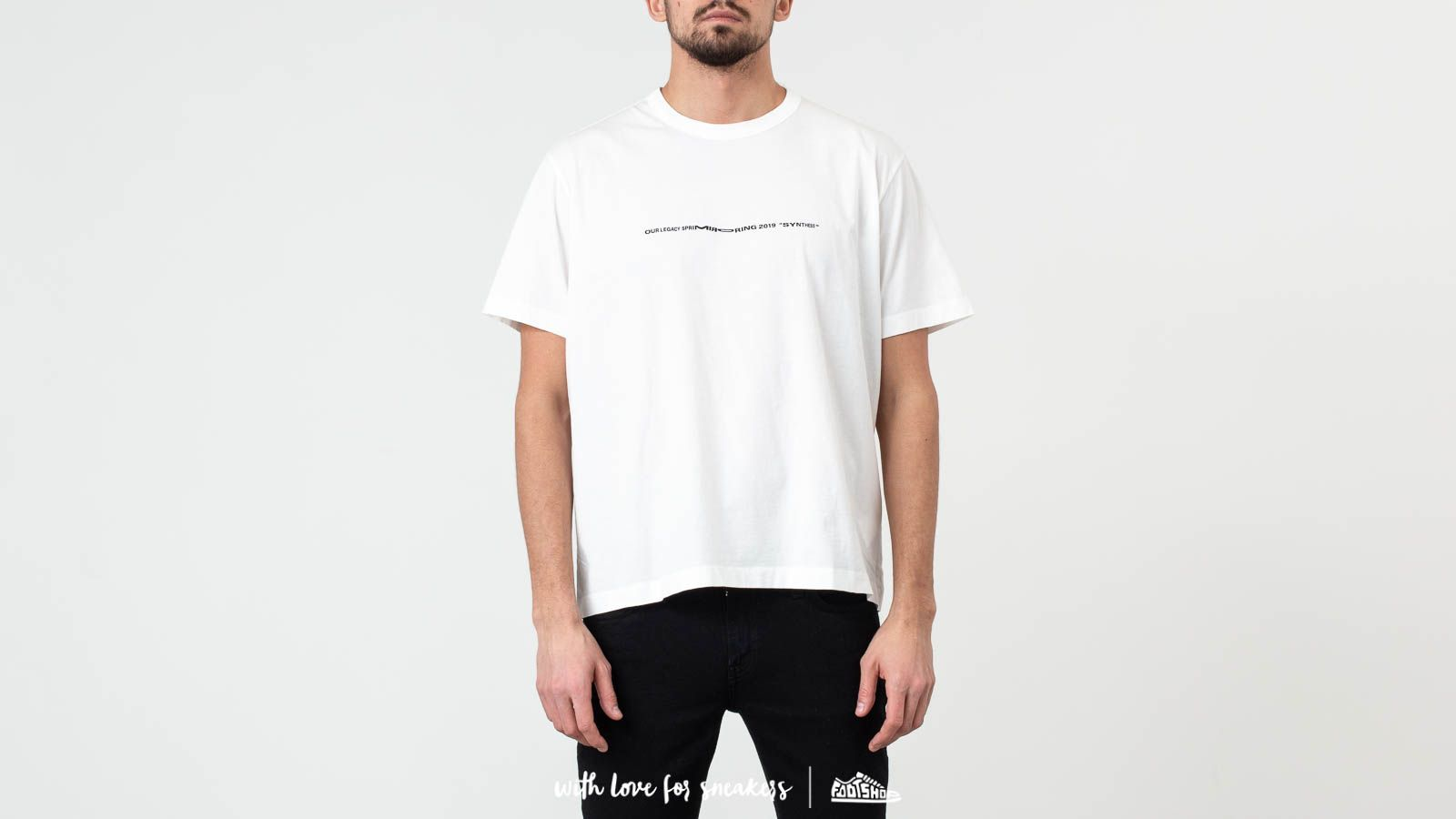 Tričká Our Legacy New Box Tee Logo Print White