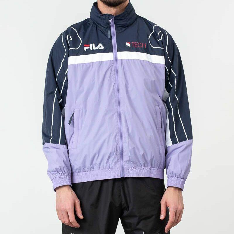 FILA Dan Woven Track Jacket Violet Tulip/ Black Iris/ Bright White, Purple