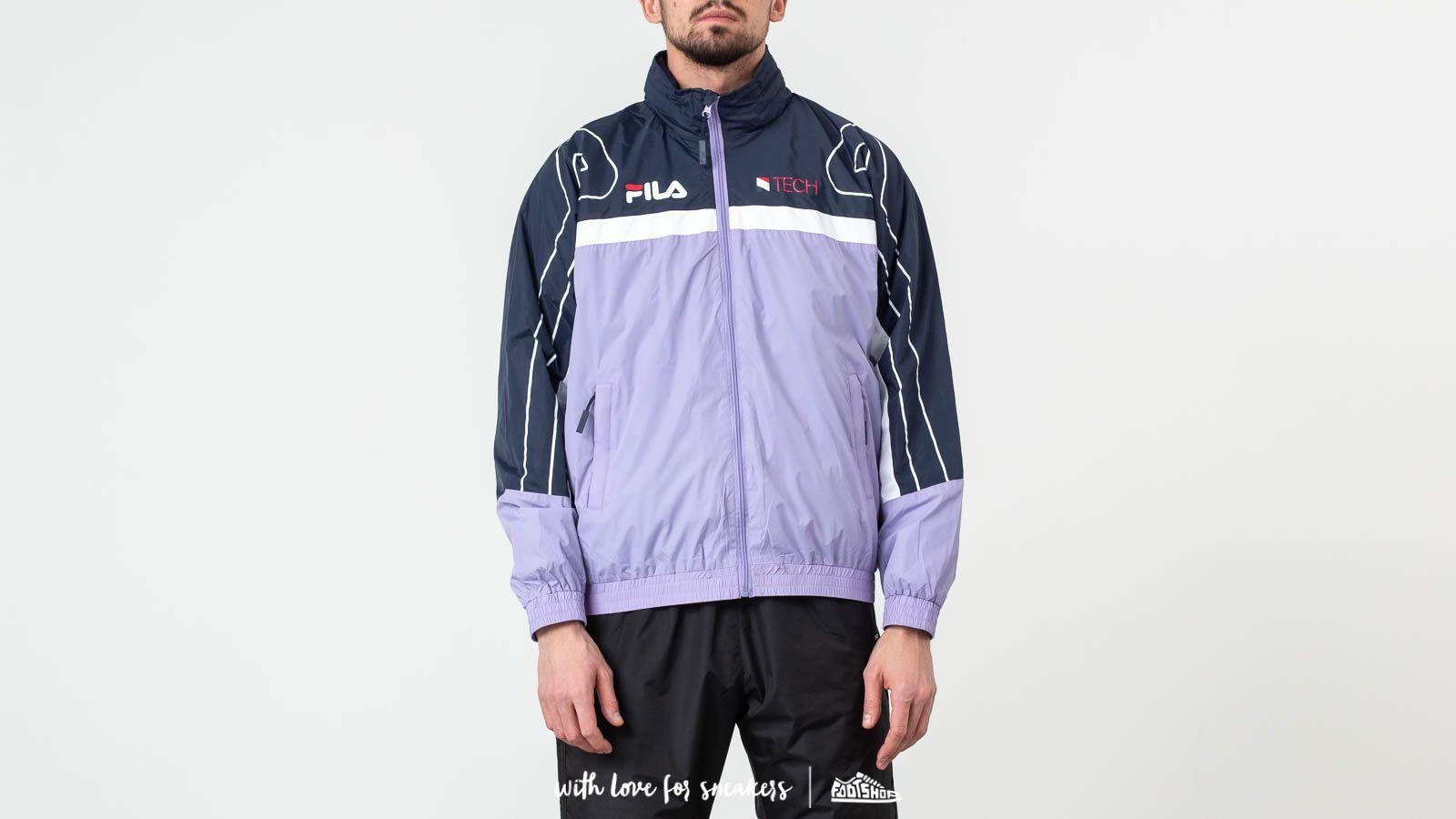 Větrovky FILA Dan Woven Track Jacket Violet Tulip/ Black Iris/ Bright White