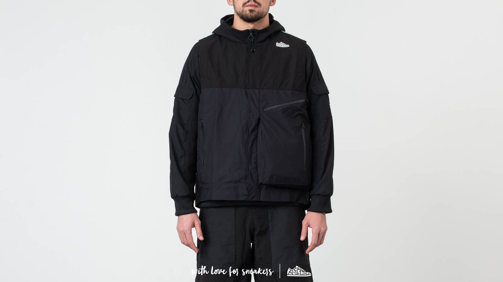 Jackets and Coats adidas Consortium x Footshop ACMON Gore-Tex Jacket Black