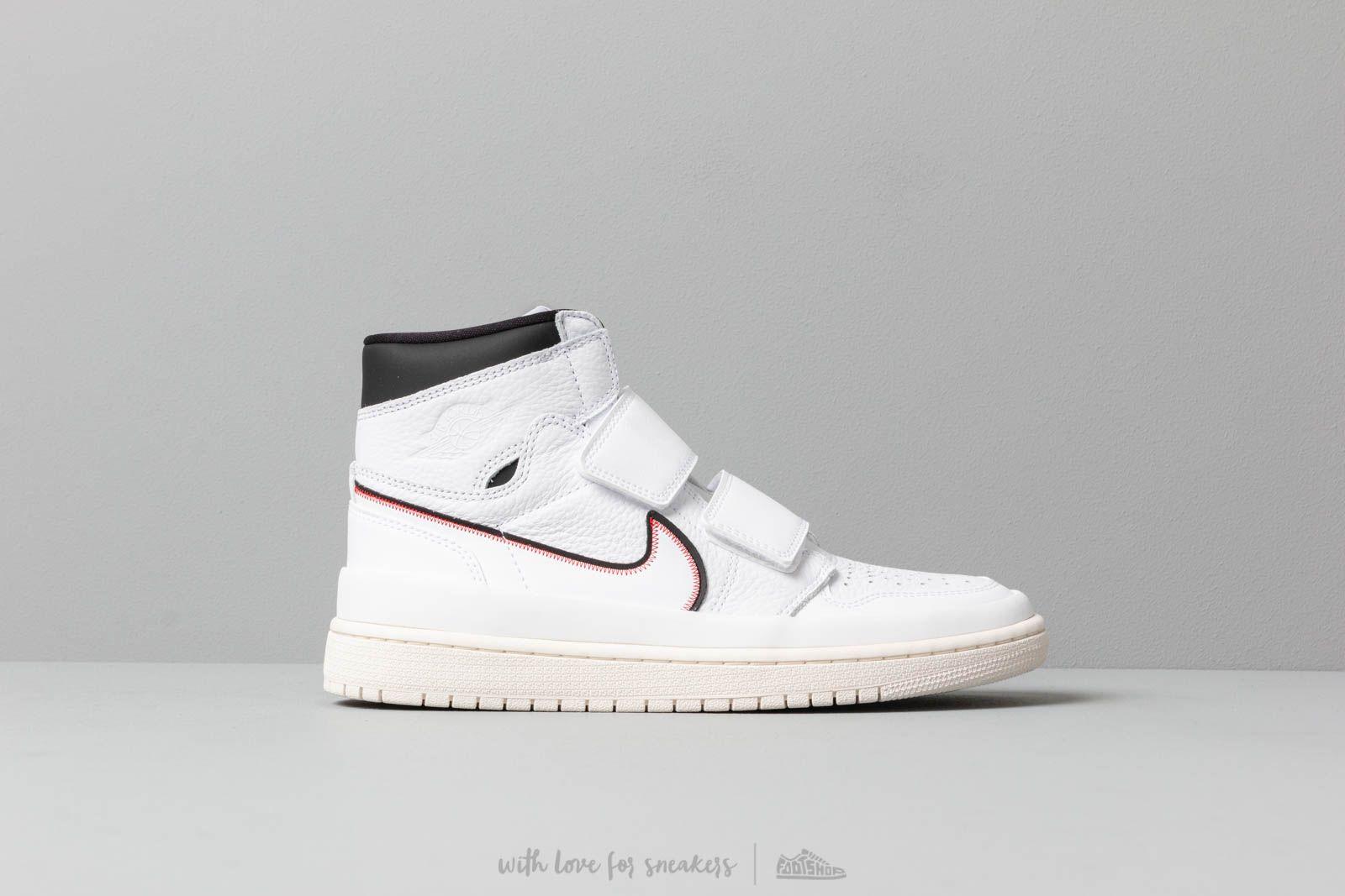 Air Jordan 1 Re Hi Double Strap White White Black Sail   Footshop