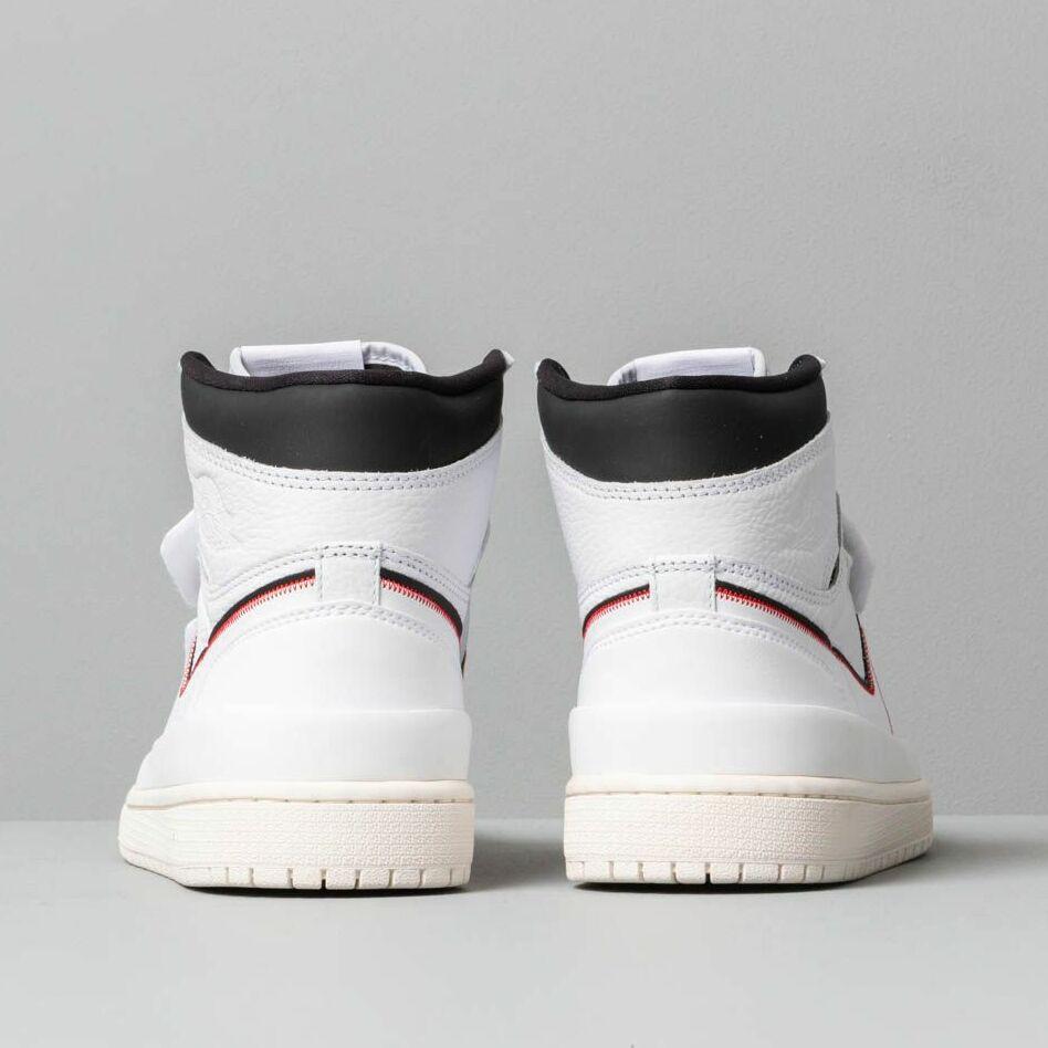 Air Jordan 1 Re Hi Double Strap White/ White-Black-Sail