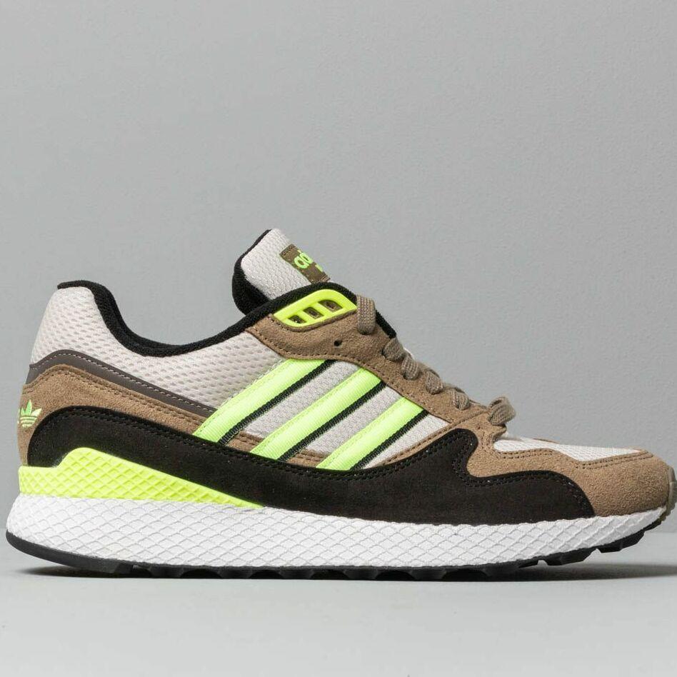 adidas Ultra Tech Raw White/ Hi-Res Yellow/ Raw Khaki, Brown
