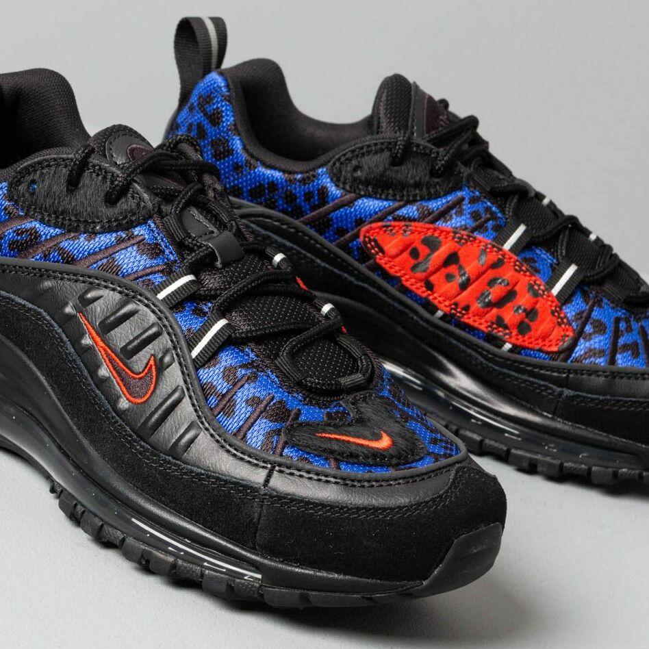 Nike W Air Max 98 Prm Black/ Habanero Red-Racer Blue
