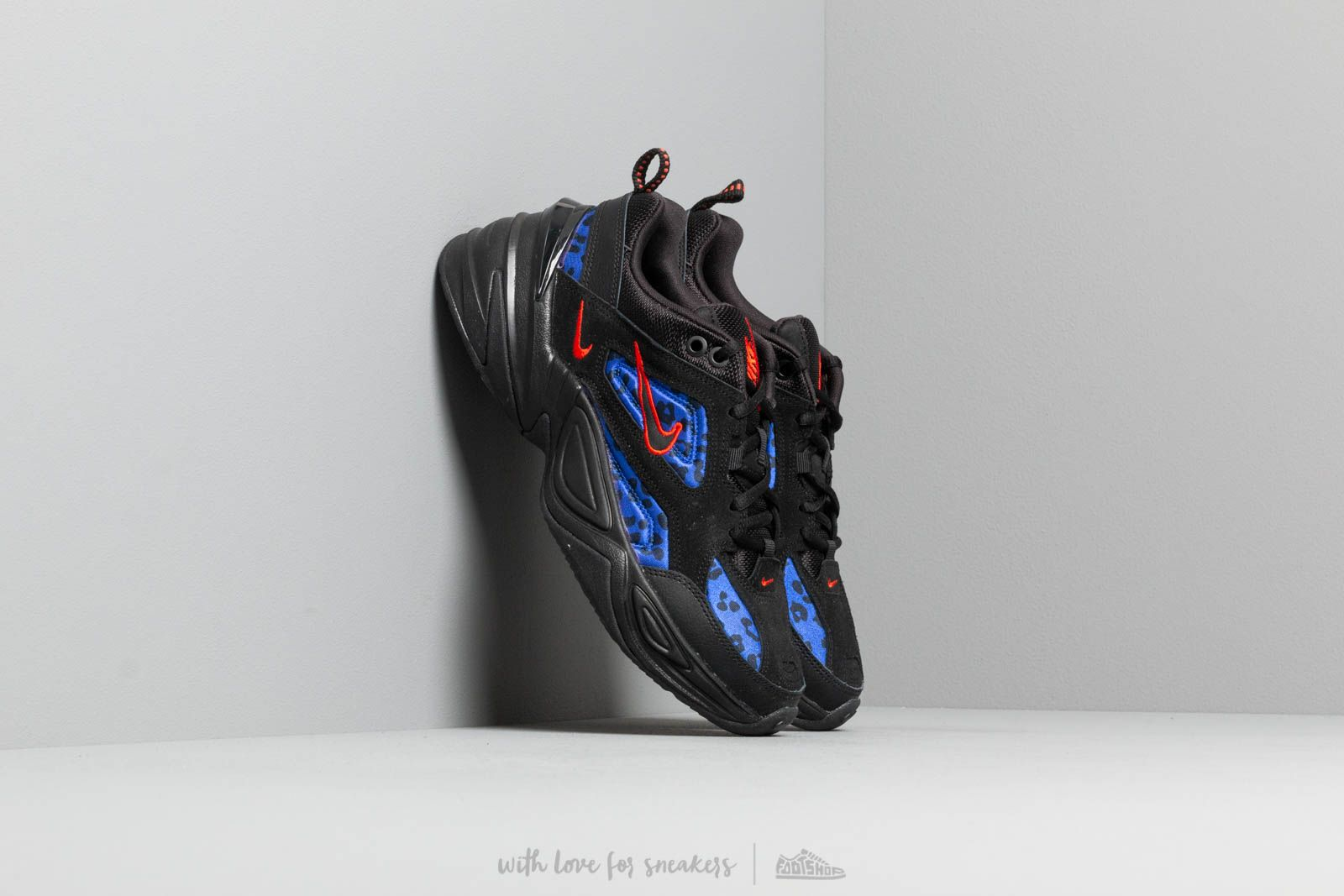 new arrival e8141 7ddc0 Nike W M2K Tekno Black  Habanero Red-Racer Blue at a great price 121