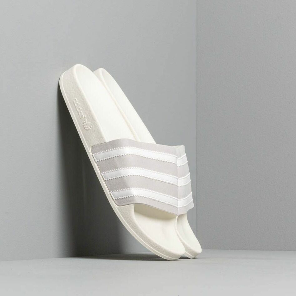 adidas Adilette Grey Two/ Ftw White/ Off White, Gray