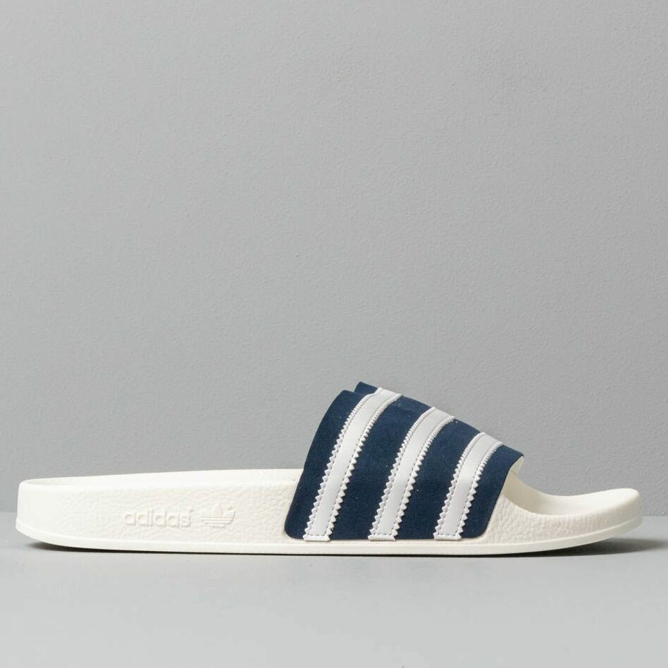 adidas Adilette Collegiate Navy/ Ftw White/ Off White, Blue